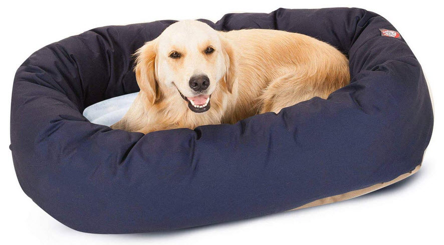 sherpa bagel poly cotton pet bed